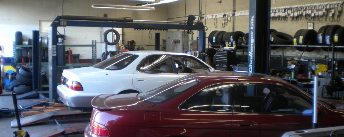 Precision Auto Repair And Tires Inside garage
